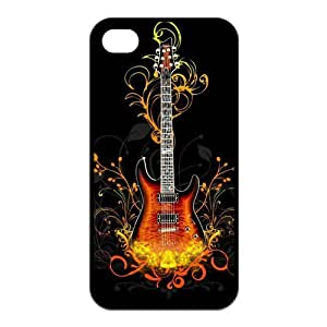 Custom Guitar Unique Iphone 4 4S Protective Rubber TPU cover