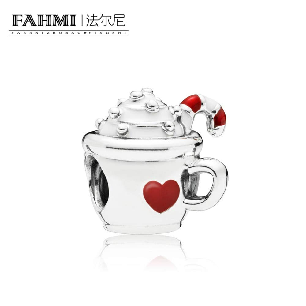 Color: White Calvas 100/% 925 Sterling Silver 797523ENMX Warm Cocoa Charm Charming Fashion Jewelry Factory Direct Sales