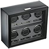 WOLF 456802 Viceroy 6 Piece Watch Winder with Cover, Black