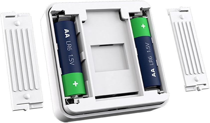 Feuchtigkeitssensor LCD-Display Smartes Raumthermostat Raum-Thermostat f/ür Wiser