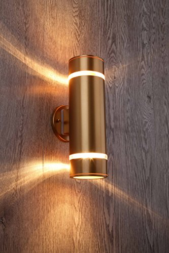 Gold Outdoor Wall Lights