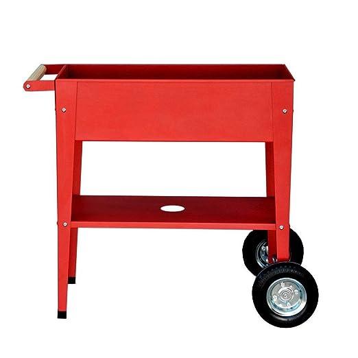 Mesa de cultivo con ruedas Urban Garden PU 75x35x80cm Rojo: Amazon ...