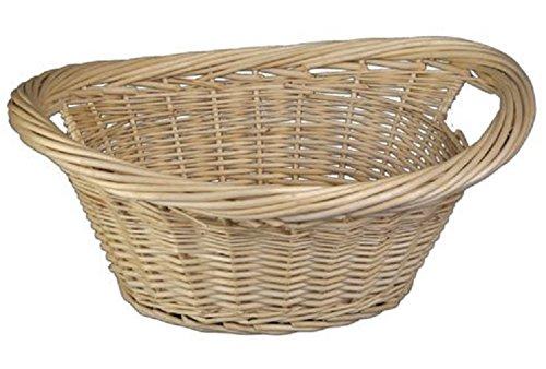 Bakaware Large Fireside Wicker Willow Log Basket / Laundry / Storage / Hamper S&MC Homeware