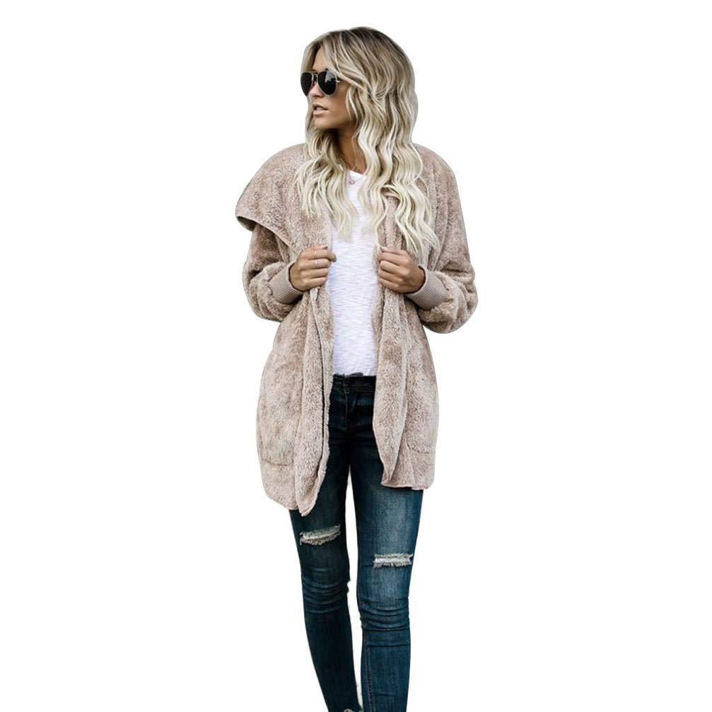 Seaintheson Women's Coats OUTERWEAR レディース B07HRDCZHK Large|カーキ カーキ Large