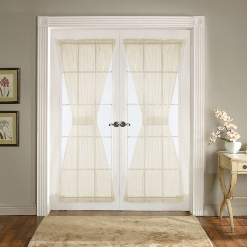 Lush Decor Breeze Door Panel 4-Piece, 42-Inch by 72-Inch, Ivory