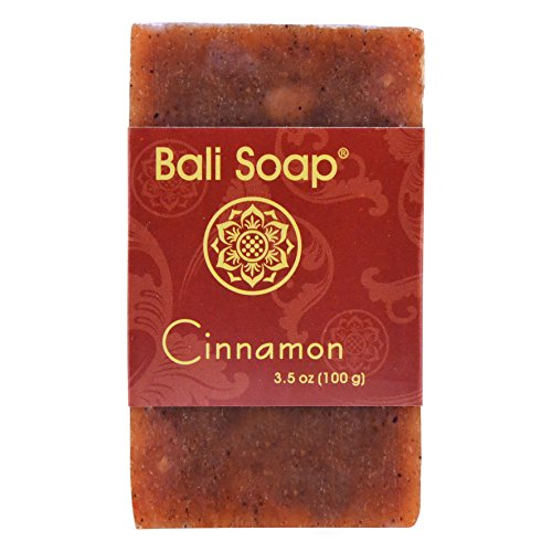 Bali Soap - Cinnamon Natural Soap Bar, Face or Body Soap Best for All Skin Types, For Women, Men & Teens, Pack of 12, 3.5 Oz each