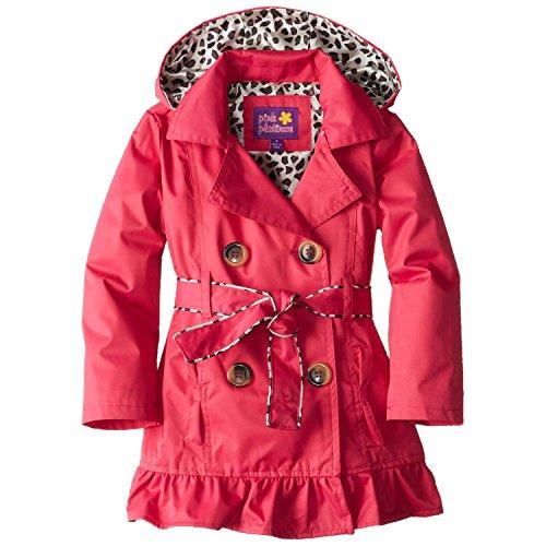 pink platinum trench rain jacket - 9