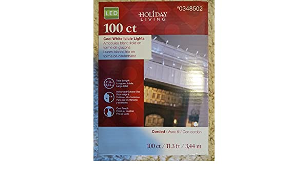 Amazon.com : Holiday Living 100-Count Constant White Micro LED Plug-In Christmas Icicle Lights ENERGY STAR : Garden & Outdoor
