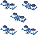 Gowoops 5PCS HC-SR04 Ultrasonic Module Distance Measuring Transducer Sensor for Arduino