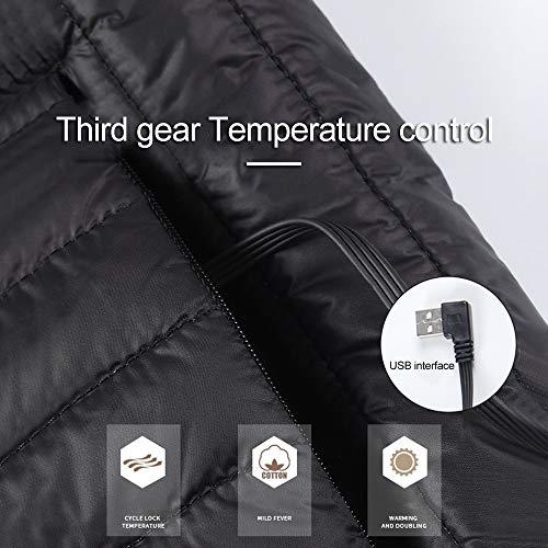 Caldo Con Elettrico In Interfaccia Kekeda Cotone Invernale E Usb Termostato Giubbotto pqx5t5