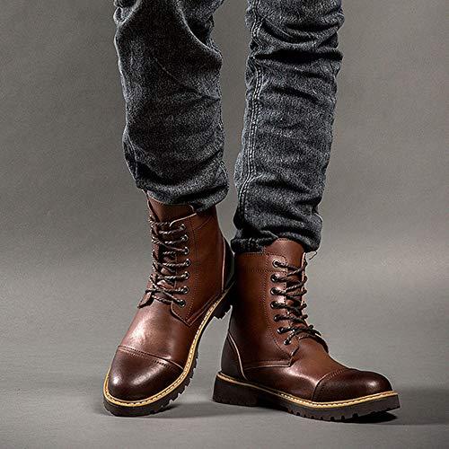 Desert Yra Casual L'escursionismo Uomo Pelle Top In Boots Scarpe Da Uomo Tattici Martin Da Stivali Stivali Treking Vera Pelle Per Casual DarkBrown In rZrxwq6UC