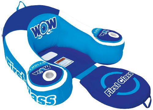 WoW World of Watersports, 11-2030 First Class Lounge, Inflatable, 1 Person, Cooler and Cup Holders by WOW Sports