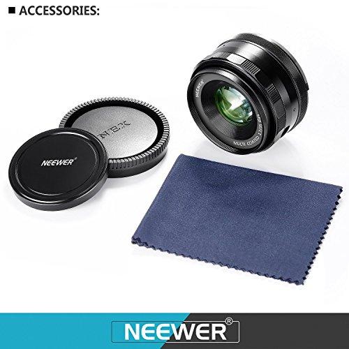 Neewer® NW-E-35-1,7 35mm f / 1.7 Manueller Fokus Prime Fest Objektiv für Sony E-Mount Digitalkameras, wie Sony NEX3, 3N, 5, 5T, 5R, 6, 7, A5000, A5100, A6000, A6100 und A6300