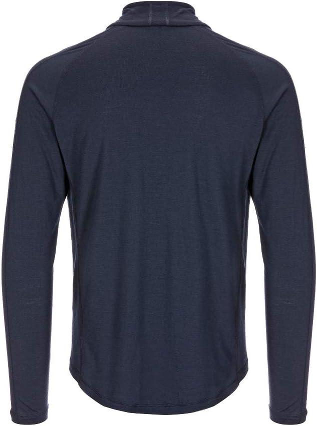 M BASE 1//4 Zip 175 Mit Merinowolle super.natural Herren Langarm-Shirt