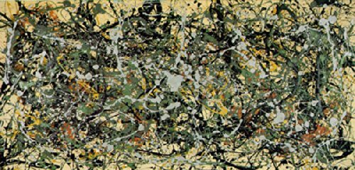Number 8 1949 by Jackson Pollock Abstract Lines Cool Warm Colors Print Poster 30x50 (Number Lines Print)