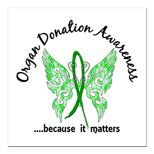 CafePress - Organ Donation Butterfly Square Car Magnet 3