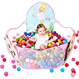 EocuSun Kids Ball Pit Ball Tent Pop up Children Baby Toy Toddler Ball Pit for Indoor Outdoor Play, Balls Not Included (Pink)