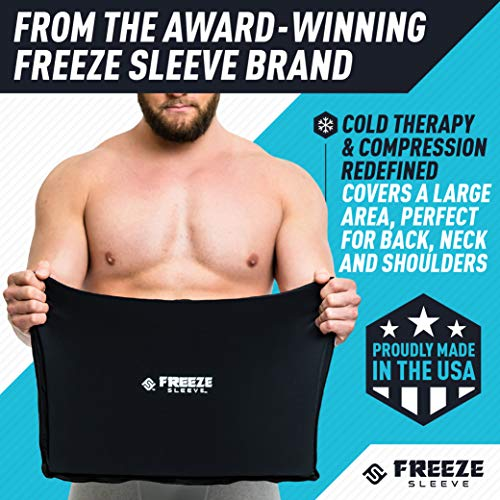 FreezeSleeve Flat Pak - 12'' x 17'' Cold Therapy Treatment- Black by FreezeSleeve (Image #1)