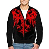 988Iron Vintage Flag Of Albania Men's Classic Zipper Jacket Coat