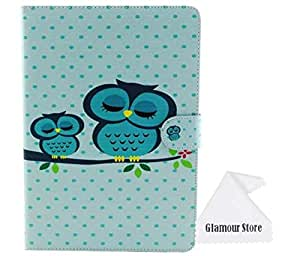 iPad Air 2 Case,Owl Pinted Leather stand Case Smart Cover For New Apple iPad 6 Apple iPad Air 2 With a Free Cleaning Cloth As a Gift
