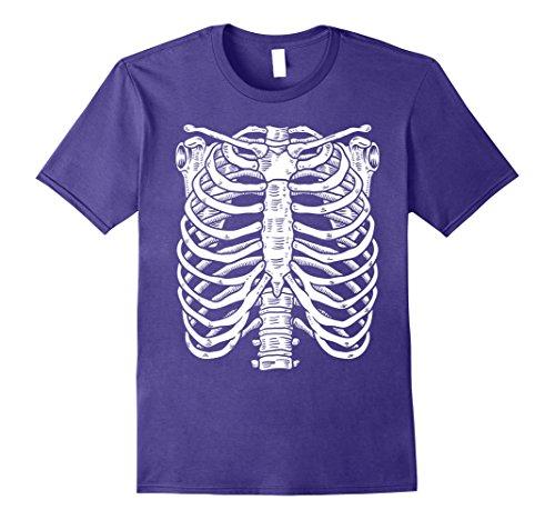 Mens Halloween Skeleton Shirt | Premium Costume T Shirt Gift Idea Small Purple