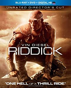 Cover Image for 'Riddick (Blu-ray + DVD + Digital HD with UltraViolet)'
