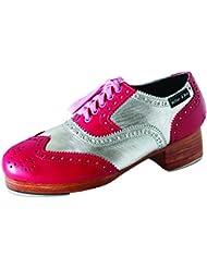 Miller & Ben Tap Shoes; Triple Threat; Pink & Silver (GT) - Royal - Standard Sizes