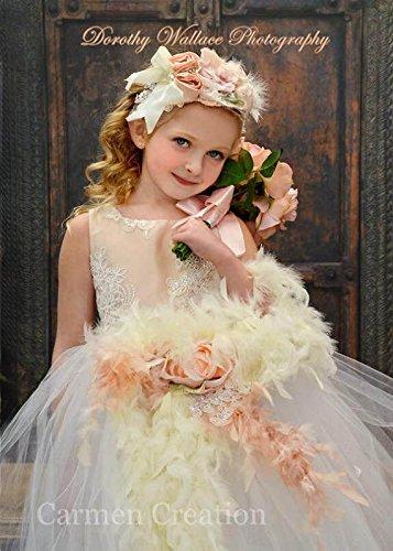 Gatsby Flower Girl Dress Blush by Carmen Creation
