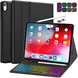 iPad Pro 12.9 Case with Keyboard 2018 3rd Gen (Not for 2017 2015) - 7 Colors Backlight Hundreds of DIY - Detachable Wireless Keyboard with Charging Pencil Holder for iPad Pro 12.9 Inch 2018