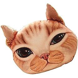 Cat Pillow Washable Cushion Christmas Gift Fashion Pillow Yellow