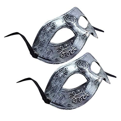 Mask Warrior - Szs Retro Roman Gladiator Halloween Party Masks Man Woman Children Mardi Gras Masquerade Mask - Chains Rose Held Pack White Diamonds Spiderman Hand Lace Wear Women Gold Masquer -