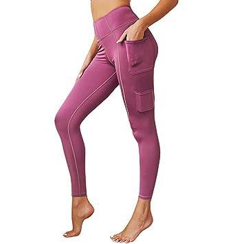 Baiomawzh Pantalones Yoga Mujeres Leggings con Bolsillo Ropa ...
