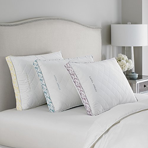 Luxury Laura Ashley Medium Density Ava Quilted Bed Pillow -