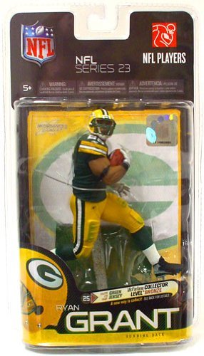 McFarlane Toys NFL Sports Picks Series 23 Action Figure Ryan Grant (Green Bay Packers) Green Jersey Bronze Collector Level ()