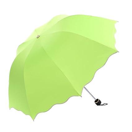 xiangyingzhijia Paraguas del Paraguas del Paraguas del Paraguas de Umbrella, Verde Fluorescente del Paraguas