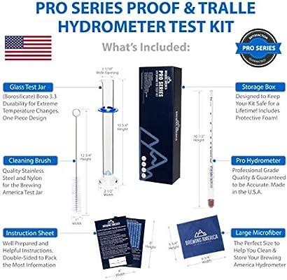 Amazon.com: Hidrómetro de alcohol Kit de prueba: Pro Series ...