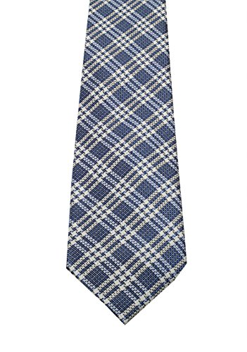 CL - TOM FORD Checked Blue Tie In Silk (Tom Ford Ties)
