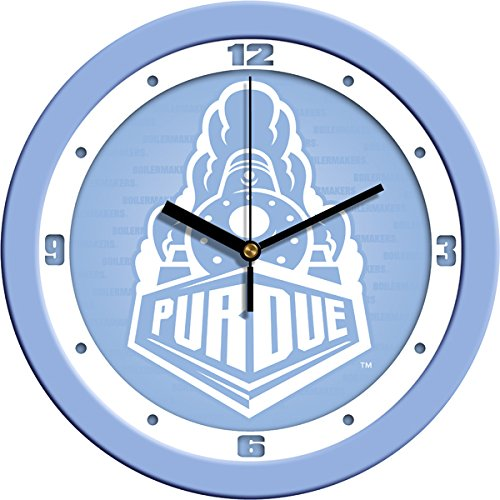 (SunTime NCAA Purdue Boilermakers Wall Clock - Baby Blue)