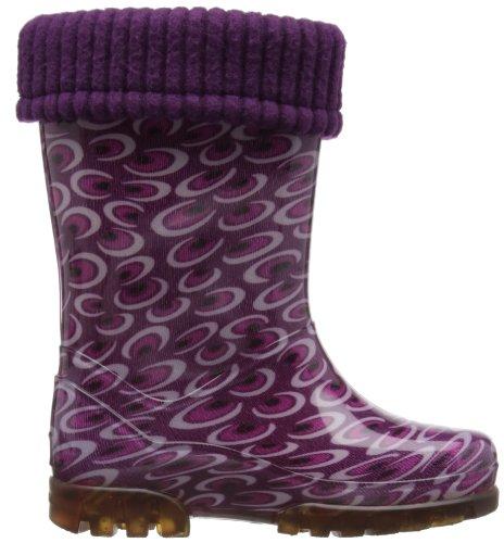 Toughees Kids Fleece-line Wellingtons Boot Amethyst MptXdNUM