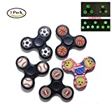 KOKOREVA 5pcs Luminous Fidget Spinner Finger Gyro Hand Spinner Toy Stress Reducer 3D Ball Bearing Finger Hands Focus Toys Perfect For ADD, ADHD, Anxiety, Autism Adult Children