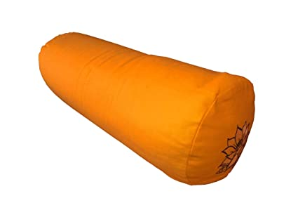 Buckwheat Yoga Bolster, Yellow Embroidered: Amazon.es ...