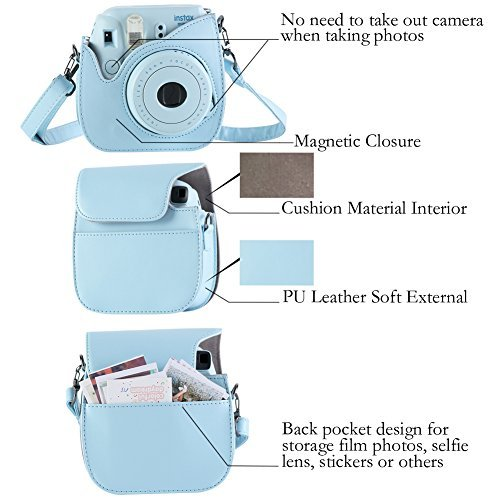 9 cámara de cine Bolsa De Transporte Hombro Funda Wn Para Fujifilm Instax Mini 8 8