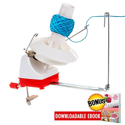 Yarn Ball Winder Effective Jumbo Size Knitting Swift Yarn Winder Hefty Hand Operated Yarn Winder Outstanding Solution for Your Yarn Storage Sewing Knitting and Crocheting Needs 7-Ounce Included (Free Knitting Patterns Chunky)