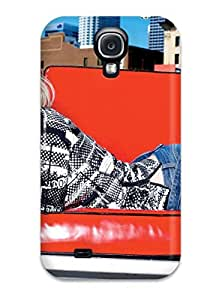 AMGake Galaxy S4 Well-designed Hard Case Cover Avril Lavigne With Red Sofa Desktop Protector