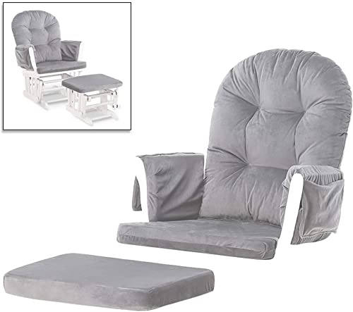 Paddie Glider Rocker Replacement Cushions Cover Set Velvet Washable