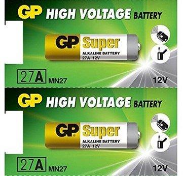 GP 27A Alkaline Battery 12V (Pack of 2)