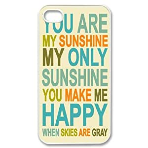 DIY Cell Phone Case for Iphone 4,4S with You are my sunshine shsu_7646791 at SHSHU