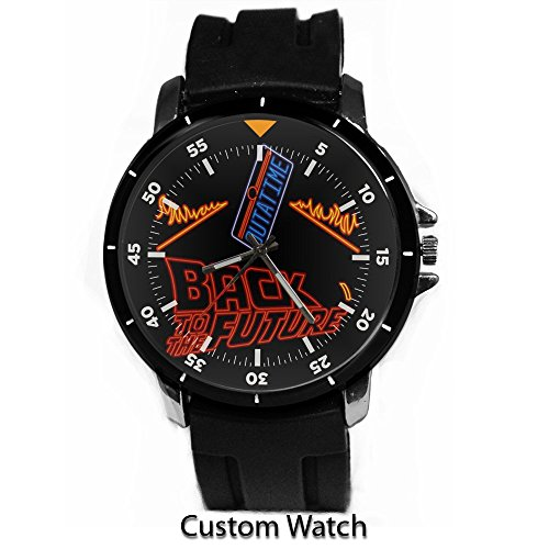 - Back to the Future Custom Watch Rubber Band Wrist Watch