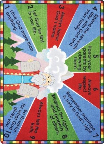 Faith Based Ten Commandments Kids Rug Rug Size: Oval 3'10'' x 5'4'' by Joy Carpets
