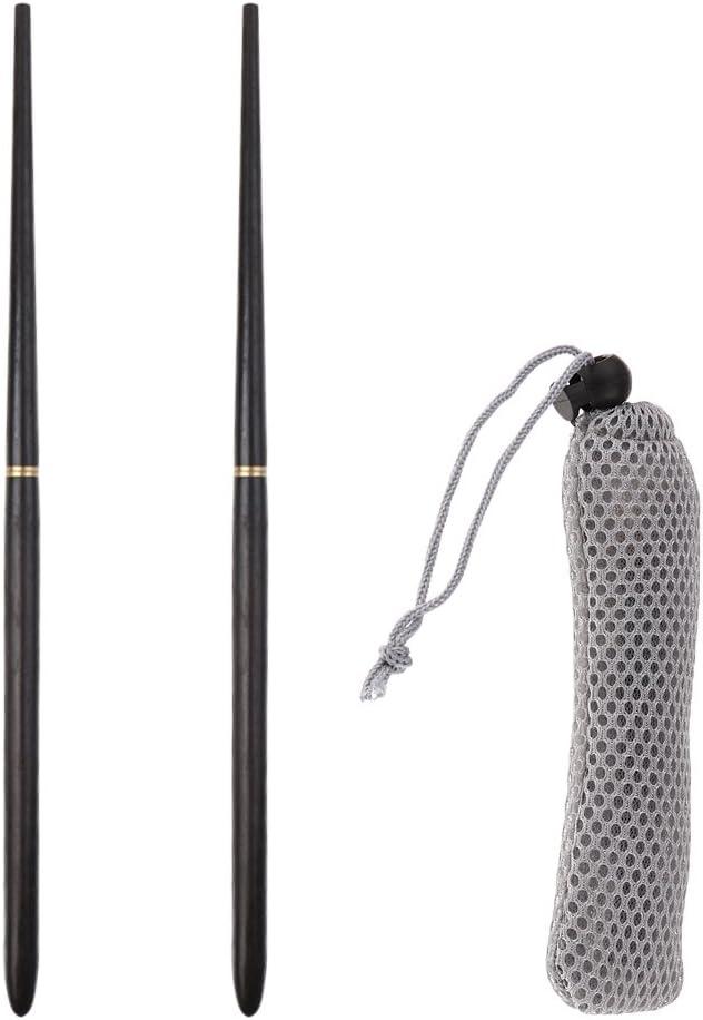 1 paire qualité Ebony Environmental Portable Pliant Portable baguettes